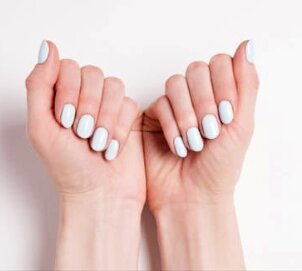 diseño uñas de gel redondas