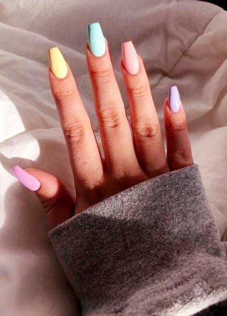 diseño uñas acrílicas ballerina