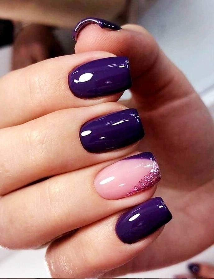 diseño uñas de gel cuadradas