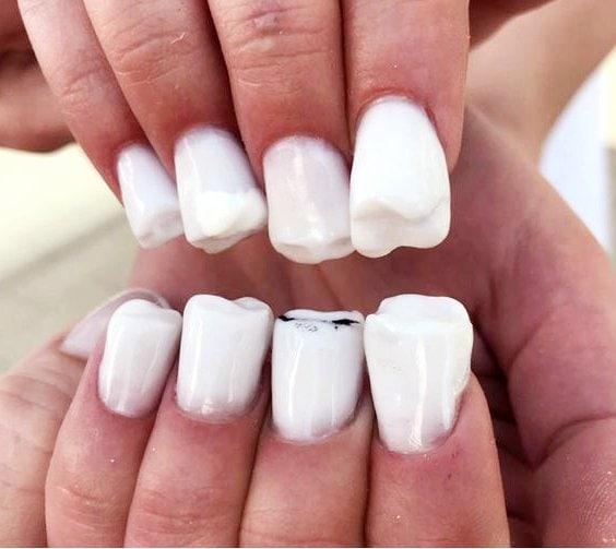diseño uñas de gel dientes