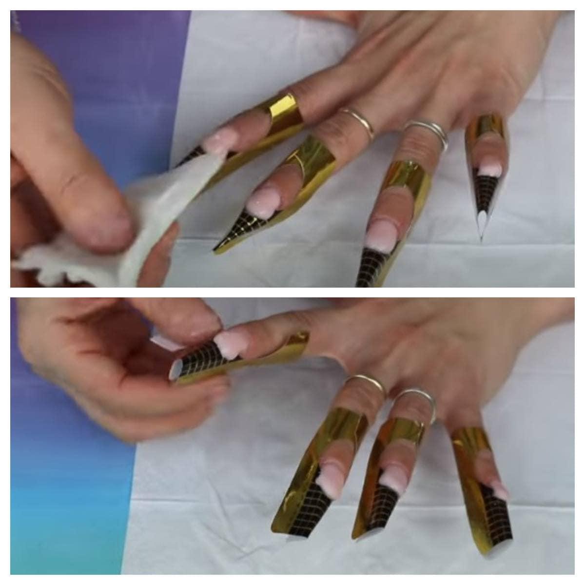 como poner uñas de gel