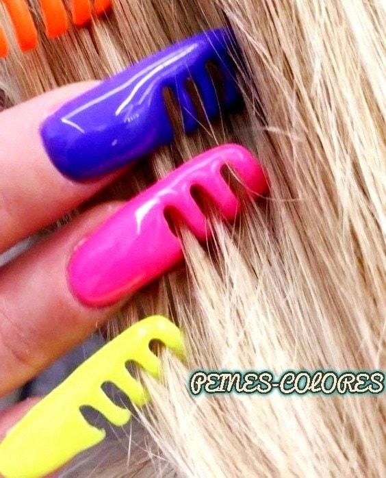 diseño uñas acrílicas peines