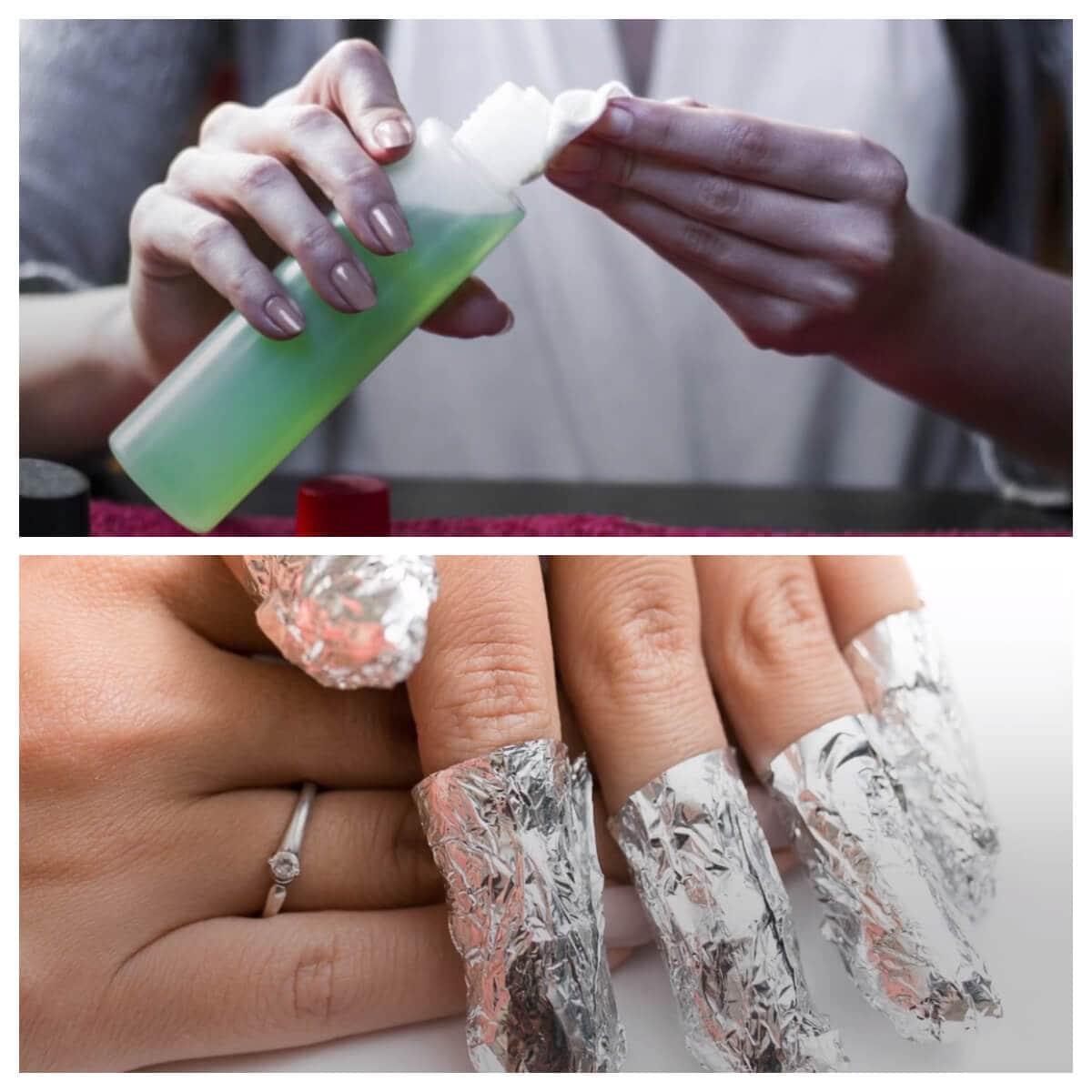 remojar antes de quitar uña de gel desde casa