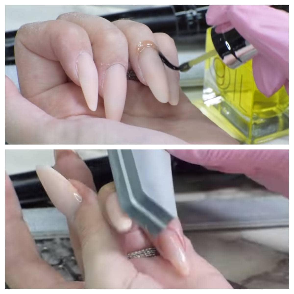 hidratas y dar forma uñas acrílicas