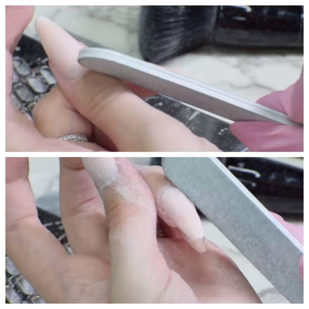 limar uñas acrílicas