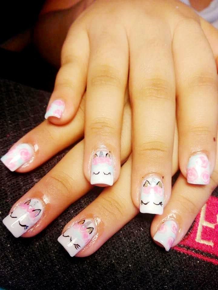 uñas para niñas unicornios